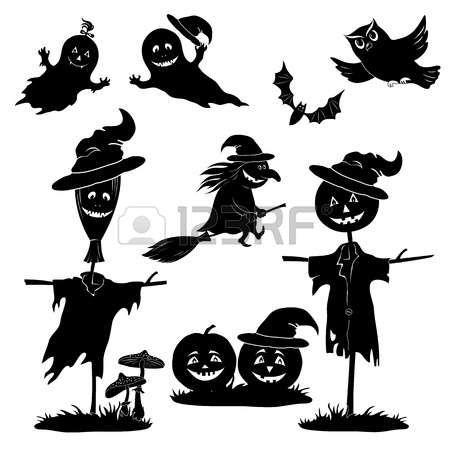 Risultati immagini per sagome nere finestra halloween