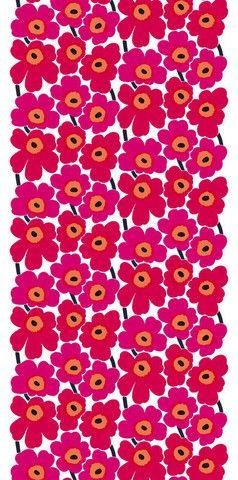 Pieni Unikko II Fabric Red/White   Marimekko Upper East Side New York
