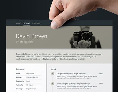Check out new work on my @Behance portfolio  - resume templates that work