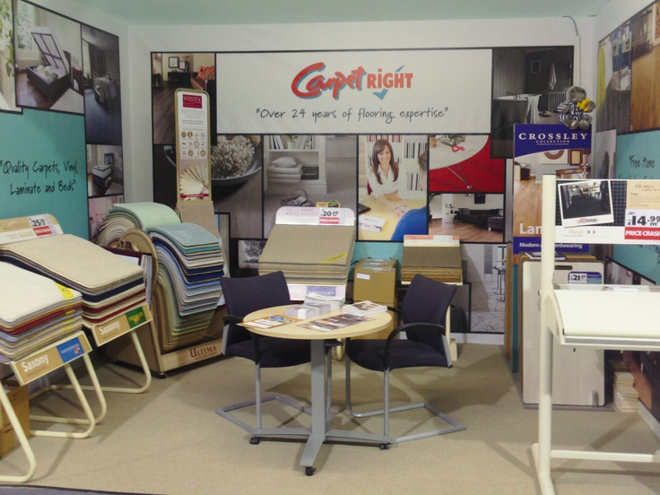 Carpetright stand at the Ideal Home Show March 2013