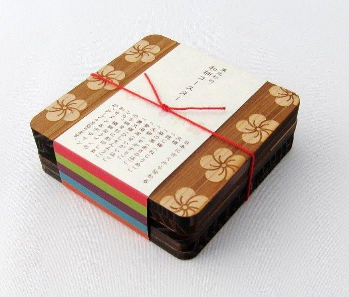 復興支援コンペ入賞作品、宮城県産の東北杉を使った「和柄コースター」 – Japaaan