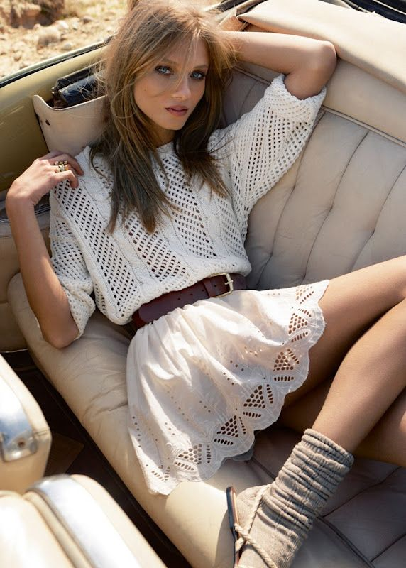Anna Selezneva for Mango Summer 2012 Catalog