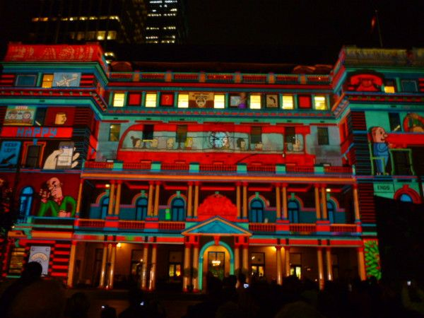 Customs House comes alive in #Sydney #vividsydney #Australia #travel Every picture tells a story http://ow.ly/VYex