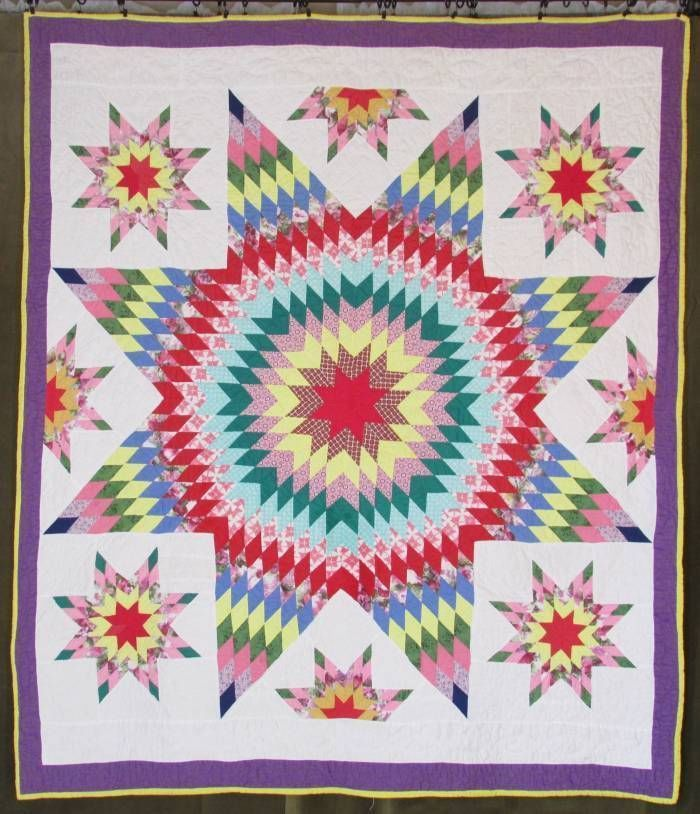 Lone Star Quilt Pattern Queen Size : 17 Best images about lone star quilts on Pinterest Antique quilts, Quilt and Mariners compass