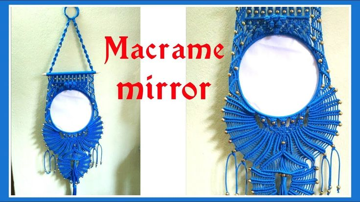 DIY Macrame Mirror wall-hanging tutorial in hindi