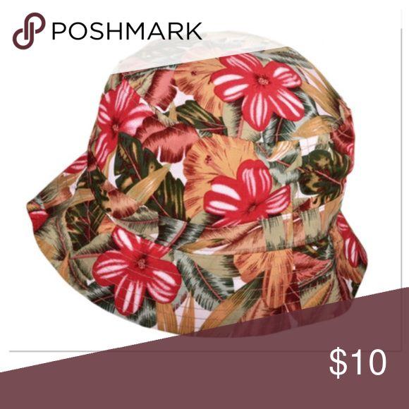 Floral Bucket Hat Fun in the sun floral bucket hat, 100% Cotton KBethos Accessories Hats