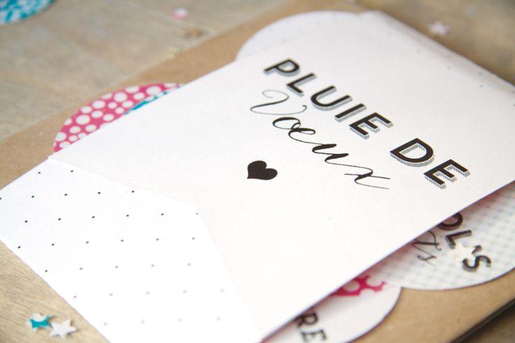 Carte de voeux avec confettis + imprimable