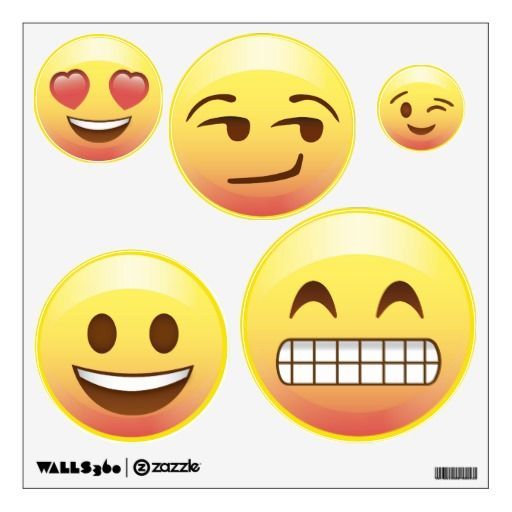 Bed Room Makeover Emoji Wall Decals Happy Emotions #Emoji #Wall #Decals