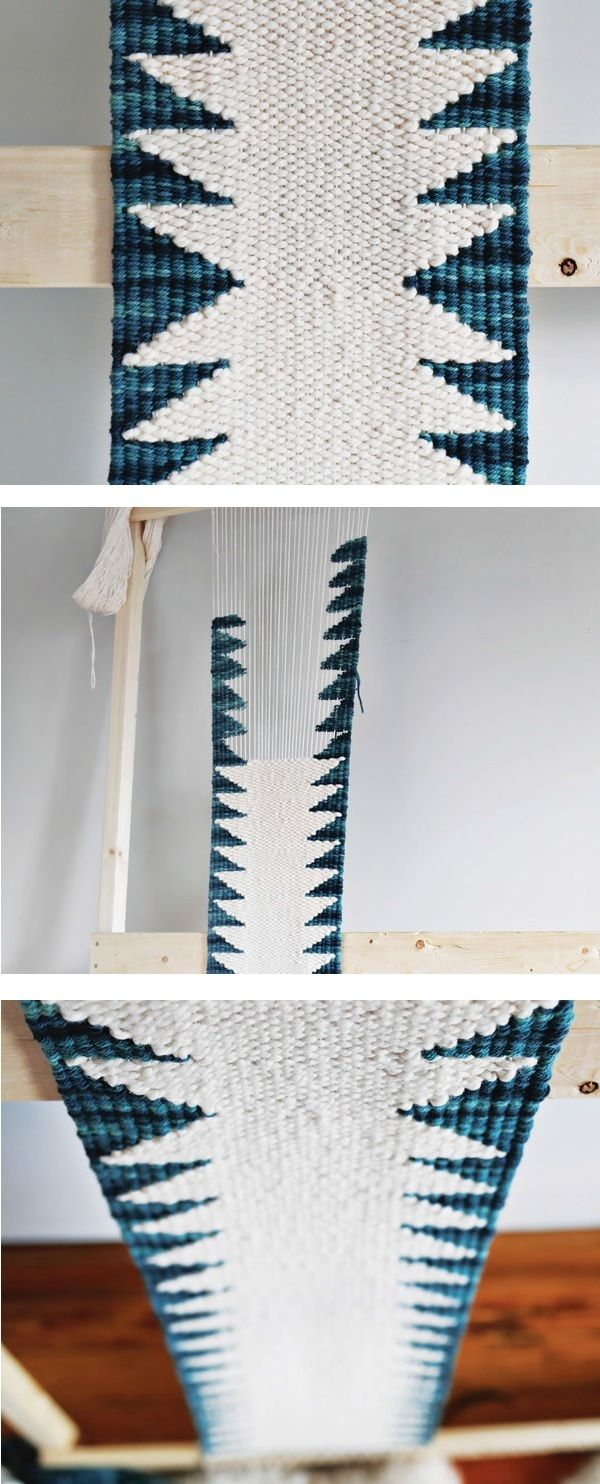 Build your own DIY loom and weave this gorgeous tapestry runner up in a weekend! eBook includes weaving techniques for 15 projects, plus instructions to build a variety of simple looms.