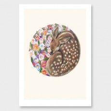 Spring Fawn Art Print by Olivia Bezett