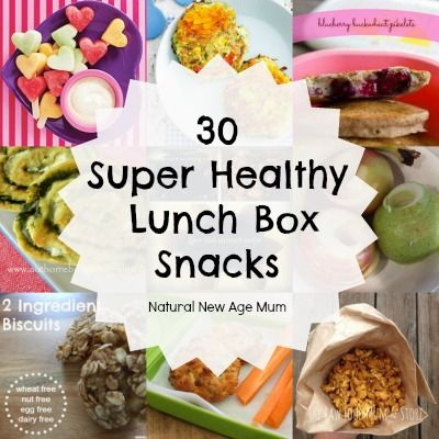 30 Super Healthy Lunch Box Snacks. Love this list! Lots of different healthy and delicious ideas.