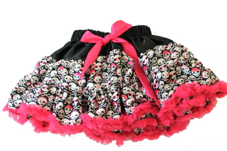 Super Cool & Cute Skull Girls Pettiskirt | Skull Baby Clothes | Punk Baby Clothes