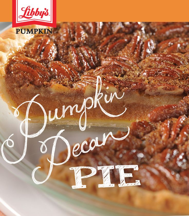 Bake this perfect holiday duet. The toasted pecan layer gives this classic dessert just the right amount of crunch to balance the creaminess of Libby's pumpkin pie.