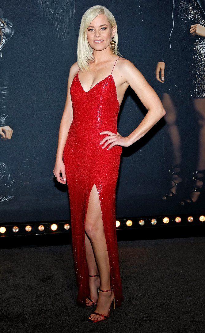 Elizabeth Banks In A Red Sequin Dress