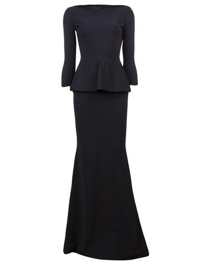 LA PETITE ROBE - Long peplum dress 1