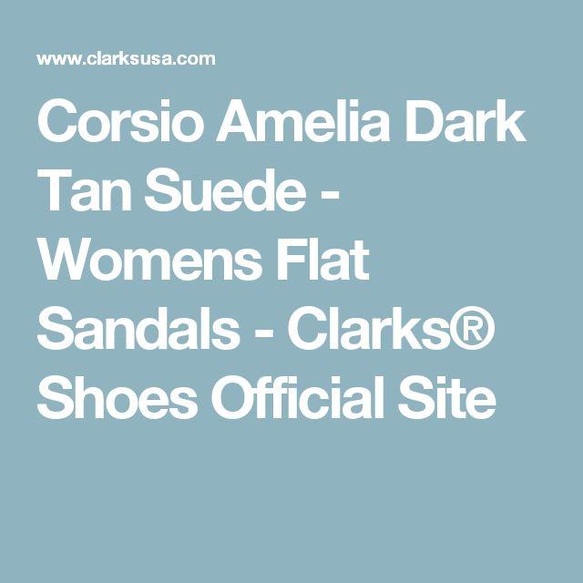 Corsio Amelia Dark Tan Suede - Womens Flat Sandals - Clarks® Shoes Official Site