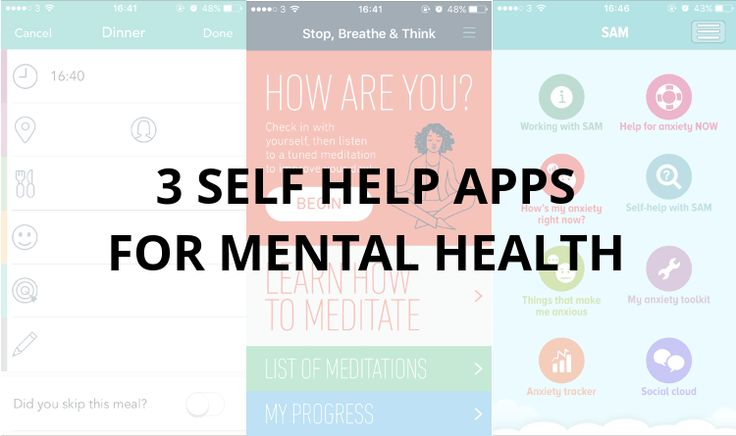 3 Self Help Apps For Mental Health