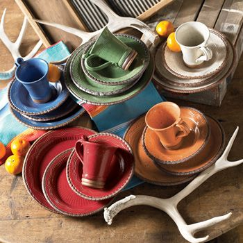 Desert Rainbow Dinnerware available from the Crow's Nesting Trading Co.