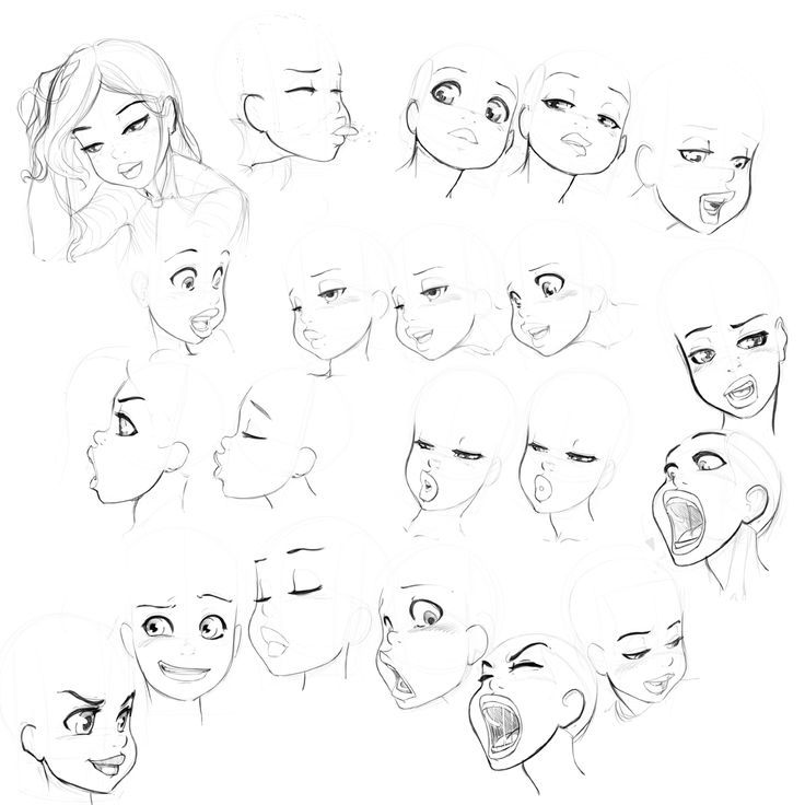 21 best ref anime female face images on pinterest for Cartoon body tutorial