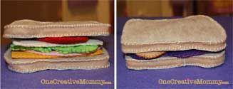 Felt Sandwiches from OneCreativeMommy.com