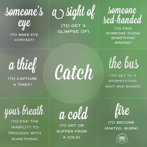 Collocations with ' Catch '                                                                                                                                                     Mais