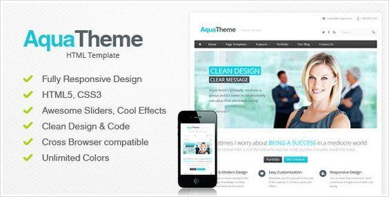 55 Professional Corporate HTML Website Templates