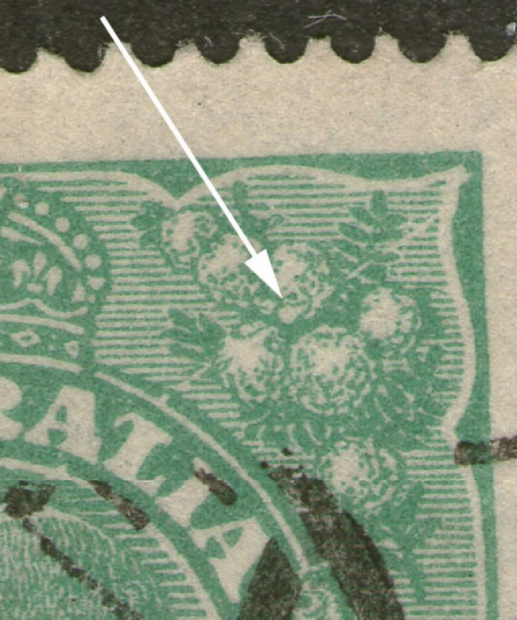 KGV Heads 1½d Green BW88(11)j Scratched electro - Position 11R7. Find more KGV Heads at Stamp Shop