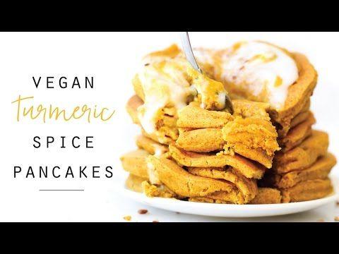 Turmeric Spice Pancakes // vegan, gluten-free, no banana - YouTube