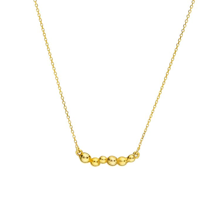 Yellow gold necklace// Dots Collection #huffyjewels www.huffyjewels.com