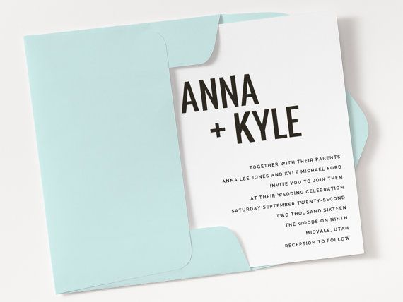 Cheap Wedding Invitation Templates - Modern Type Wedding Invitation Template for Word