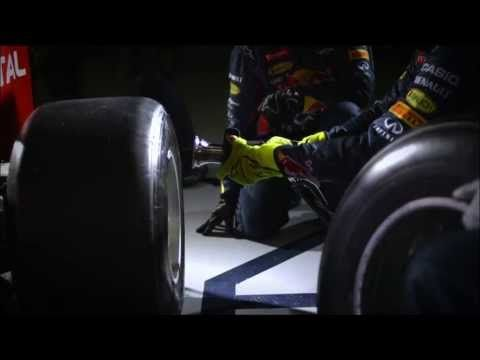 """formula 1 racecars // pit stop // 2.5 seconds in slo-mo:   a-may-zing: """"Art Of Pit Stop"""" by Red Bull House Media production"""
