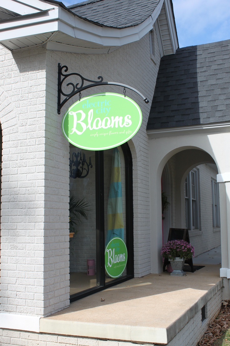 Round Hanging Bracket Sign For Electric City Blooms In Anderson, Sc Check  Out Those