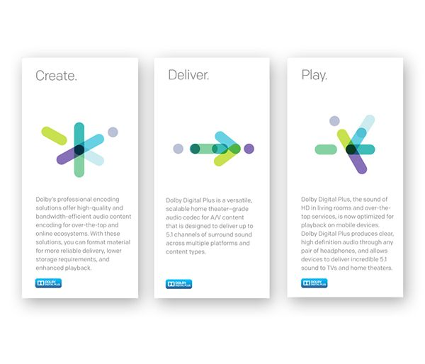 DOLBY | Sub-brand Identities & Look-and-Feel on Behance
