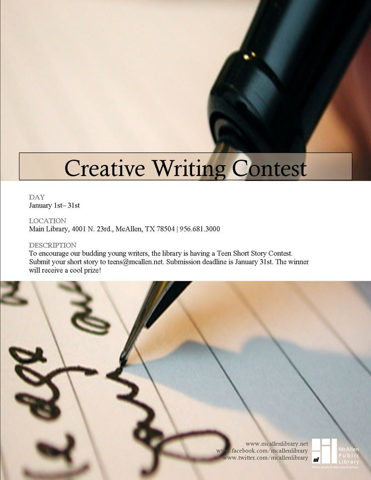 creative writing competitions 2013 No fee to enter the 2013 rrofihe trophy short story contest creative writing contests with no entry angela d'ambrosio author, reader, and brand ambassador.