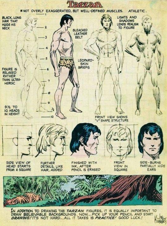 Tarzan Character Study by Joe Kubert.