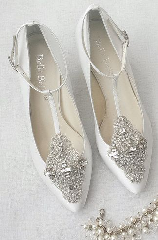 Flat Sparkly Wedding Shoes Canada