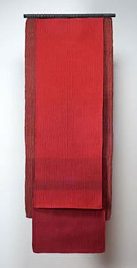 "CarolinaYrarrazaval - Handwoven, Linen, Hemp.  56"" X 21,  2009"