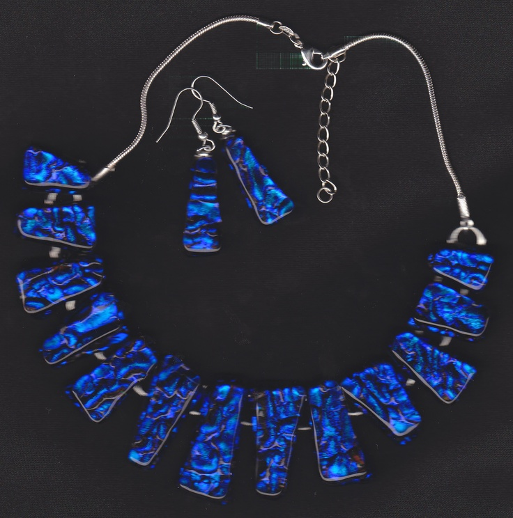 Sorry, but this beautiful necklace in Dichro Glass has now been sold.