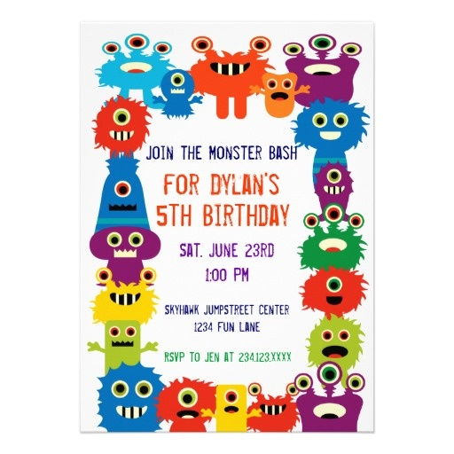 78 best Cute Monster Birthday Party Invitations images on - birthday invitation card template