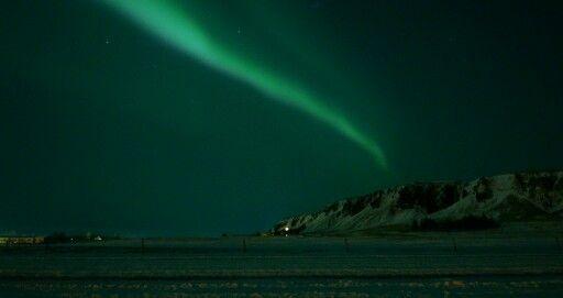 A great shot of the aurora taken in Kirkjubæjarklaustur,  Iceland by me in Jan2016!