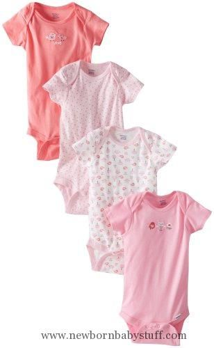 Baby Girl Clothes Gerber Baby Girls' 4 Pack Variety Onesies Brand   Bird, Bird, 12 Months