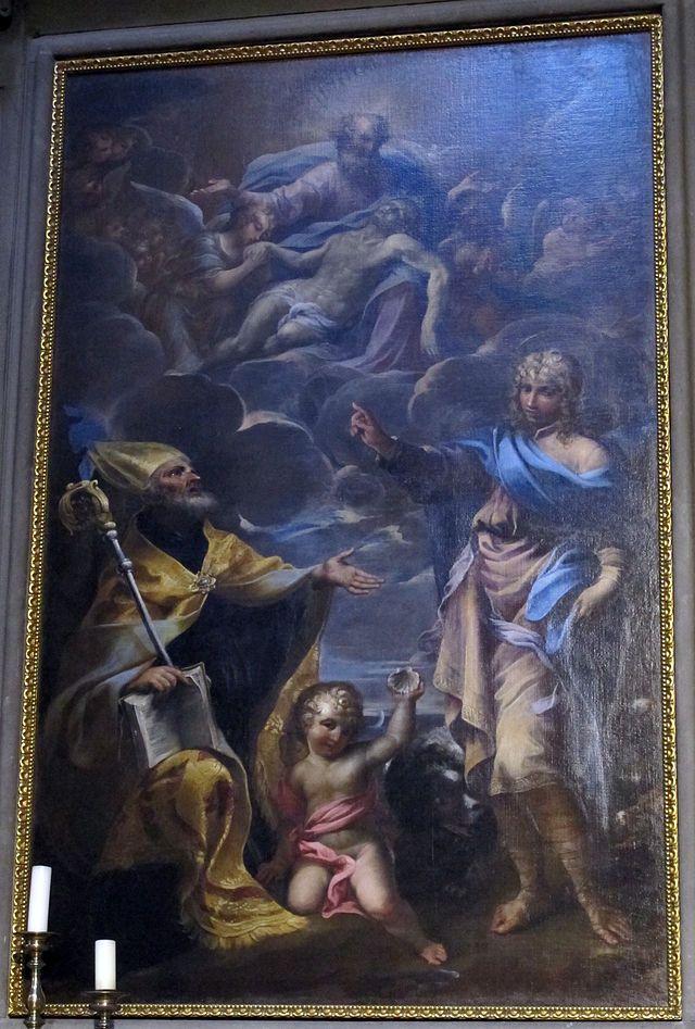 Raffaello Ванни. Санкт-Августин созерцает тайну Троицы, 1650 - 51