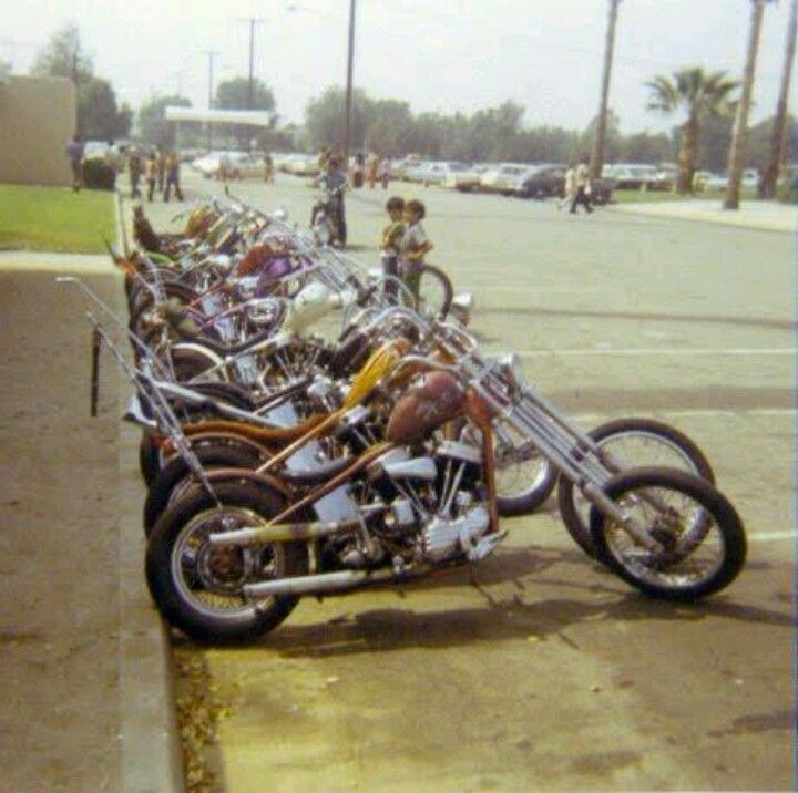 Old school choppers, back in the day....