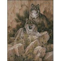 """Схема вышивки  """"Волки"""""""