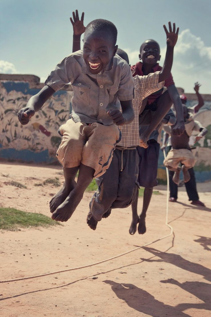 "This image means joy to me. We only see smiling faces and rope the fun is internal. That internal feeling draws us to play without hesitation ""inherent attraction"""