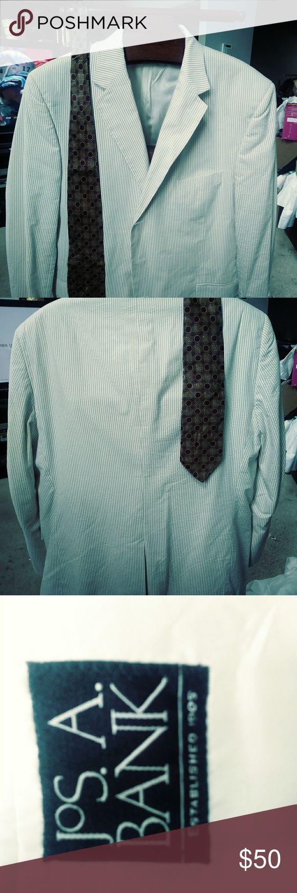 Joseph A banks seersucker Blazer $50 size 48 Joseph A banks seersucker Blazer $50 size 48 plus free gift any shirt or designer necktie on this closet priced $15 or less Joseph A banks Suits & Blazers Sport Coats & Blazers