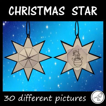 A fun Christmas activity that you can display in the classroom and then take home to hang on the Christmas tree. 2 Design Options: ♦ lift the flaps to reveal a Christmas picture and write a Christmas wish on the back of the star. ♦
