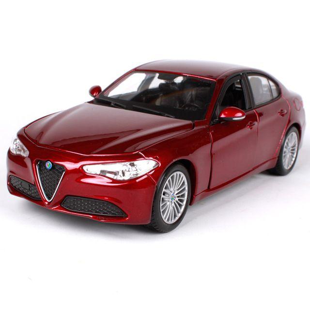 Bburago 1 24 Alfa Romeo Gulia Red Wine Blue Car Diecast 190 85 58mm Motorcar Collecting Car Models For Men 210 Small Luxury Cars Alfa Romeo Giulia Diecast Cars