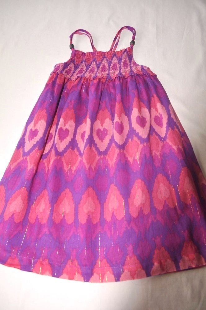 OLD NAVY GIRL'S LINED PINK & PURPLE SUNDRESS w GOLD THREADS, SZ 4T, EUC  | eBay