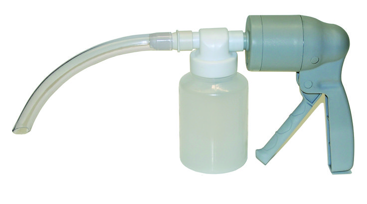 PRO-BREATHE PUMA SUCTION PUMP, MANUAL WITH DISPOSABLE COLLECTION JAR, ADULT & CHILD CATHETERS